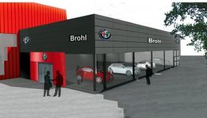 Umbau Alfa Romeo- und Maserati-Autohaus Werner Brohl Rastatt